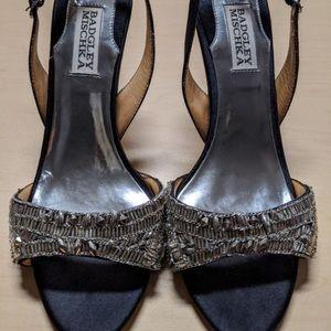 Vintage Badgley Mischka embellished heels